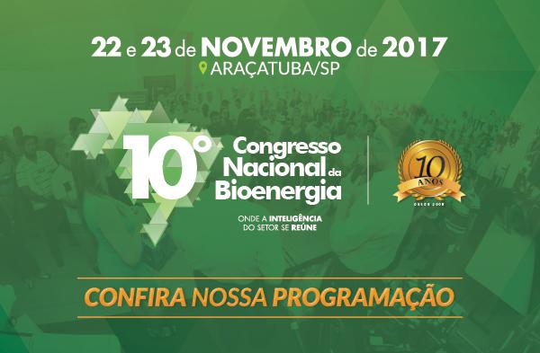 10º Congresso Nacional da Bioenergia